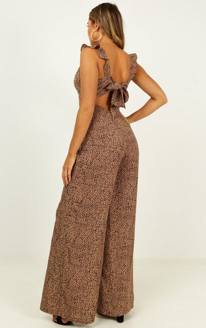 Special Mention Jumpsuit in beige print - 14 (XL), Beige, hi-res image number null