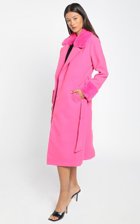 Manhattan Mornings Coat in hot pink