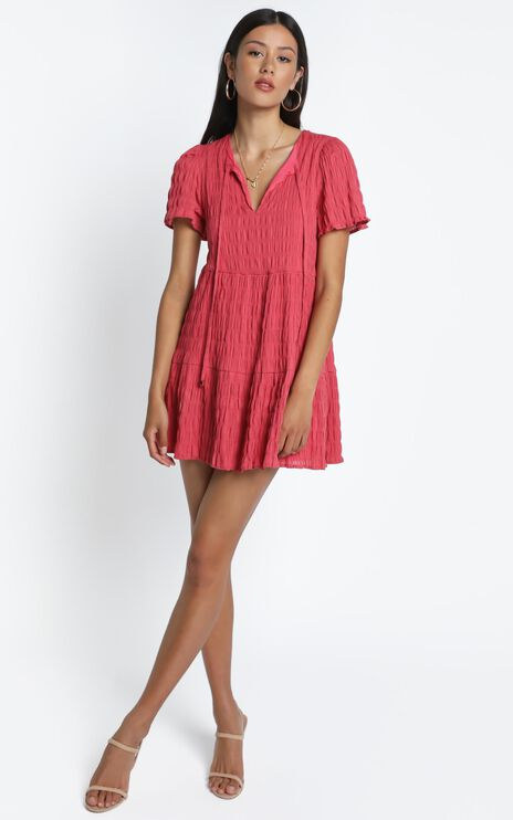 Serra Dress in Watermelon