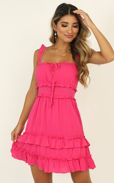 Dont Waste Time Dress In Hot Pink