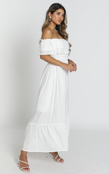 Notre Dame Maxi Dress in White