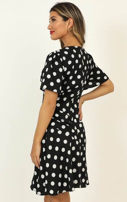 Elevated Ideas Dress in  black spot - 20 (XXXXL), Black, hi-res image number null