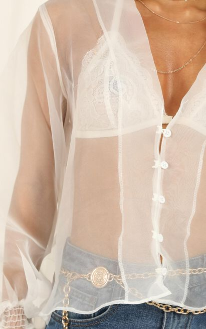 Im Lovesick top in white - 12 (L), White, hi-res image number null