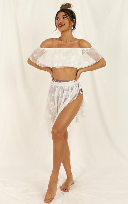 Summer Romance Top in white embroidery - 14 (XL), White, hi-res image number null