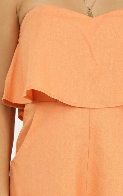 New energy playsuit in sherbet linen look - 20 (XXXXL), Orange, hi-res image number null