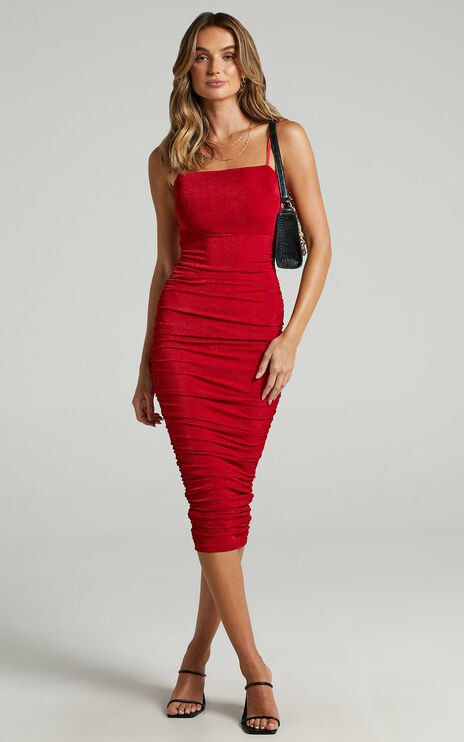 Commit To Me Maxi Dress In Red