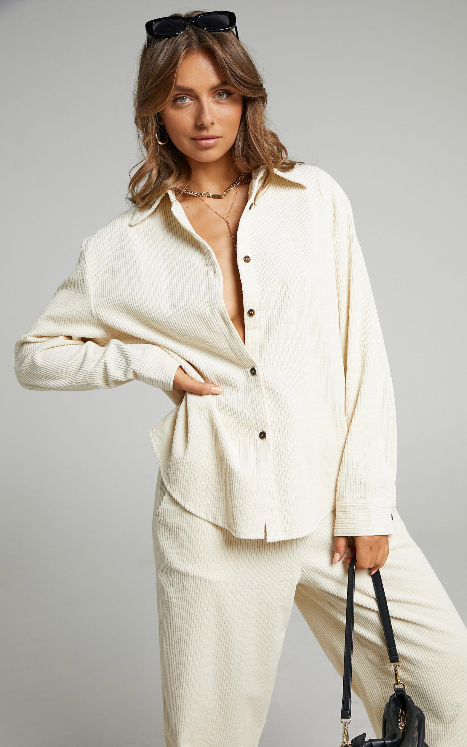 Lioness - Nikita Cord Shirt in Cream - L, CRE1, super-hi-res image number null