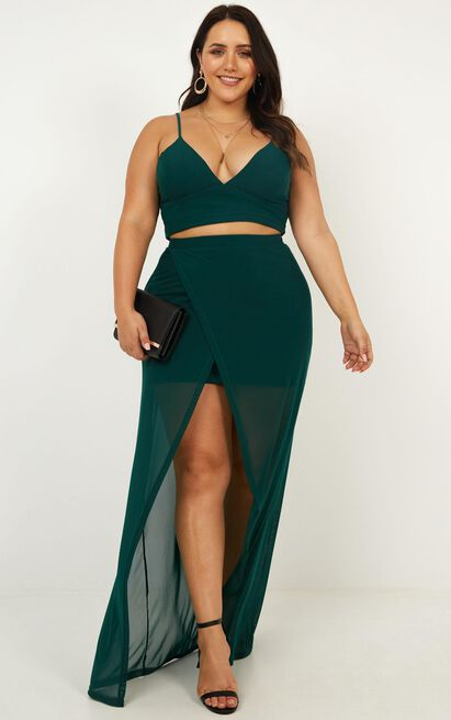 Body Language Two Piece Set in emerald - 4 (XXS), Green, hi-res image number null