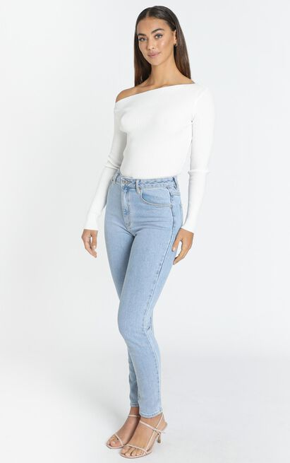 Mustering Confidence Knit top in ivory - 20 (XXXXL), Beige, hi-res image number null