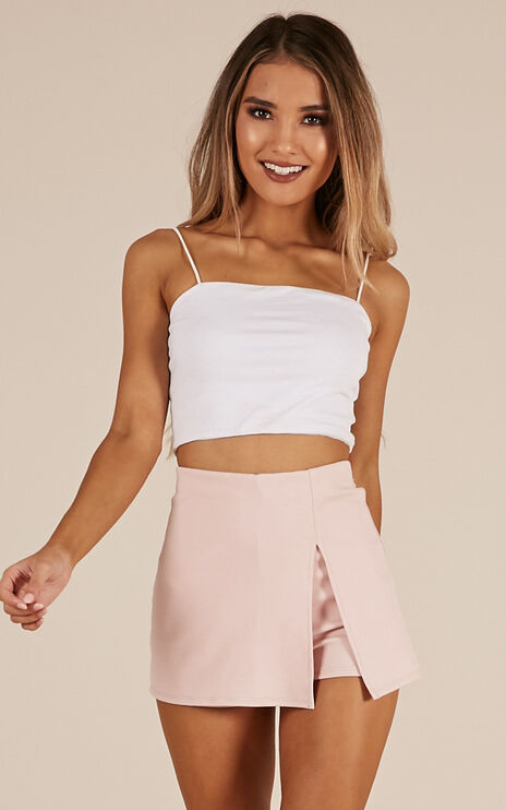 Mellow Out Skort In Blush