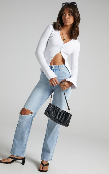 Abrand - A 94 High Straight Jeans in Gina Rip