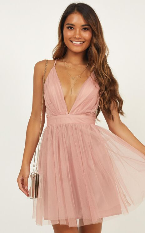 Give Me Luck Dress In Blush