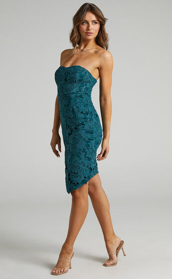 Lace To Lace Dress in Emerald Lace