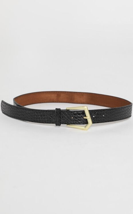 Simple Favours Belt in Black and Gold
