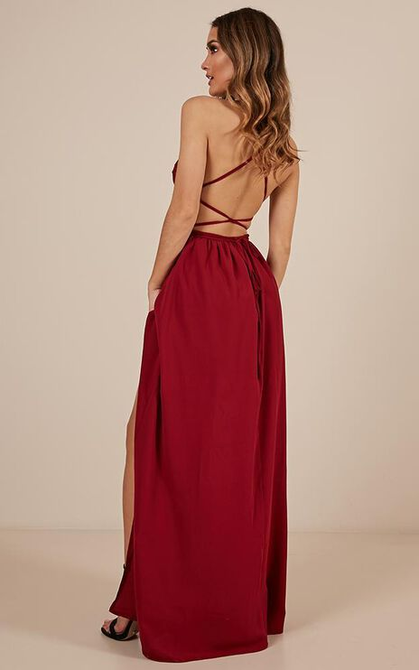 Running Free Maxi Dress In Wine