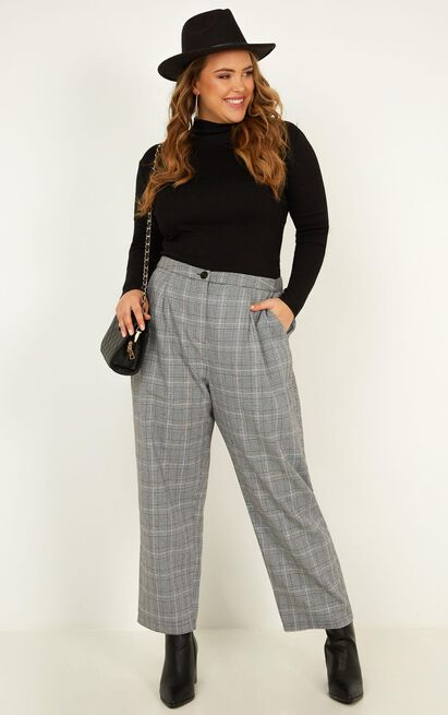 Alpine Pants in Grey Check - 16 (XXL), Grey, hi-res image number null
