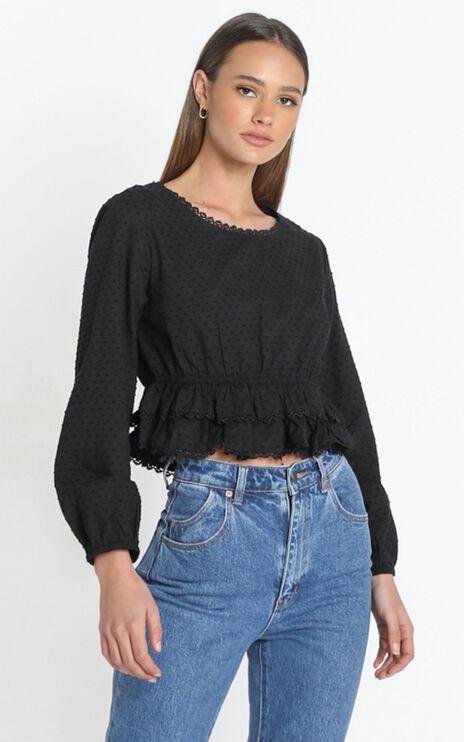 Maire Top in Black