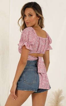 Plan Far Ahead Top In Pink Floral