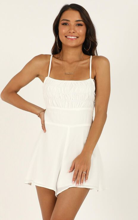 Nothing Specific Playsuit In White