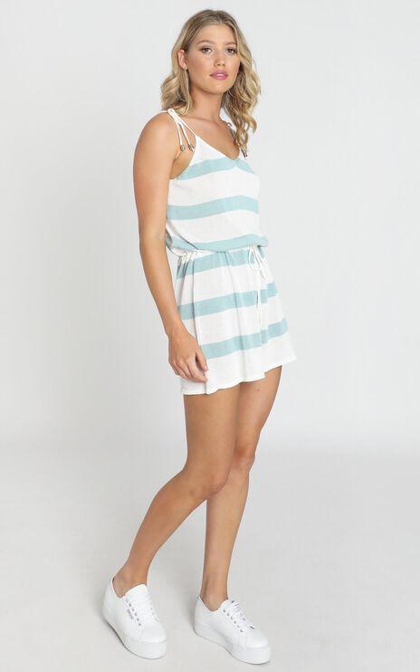 Mackenzie Dress In Sage Stripe