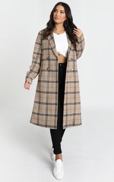 Atlanta Coat in Brown Check