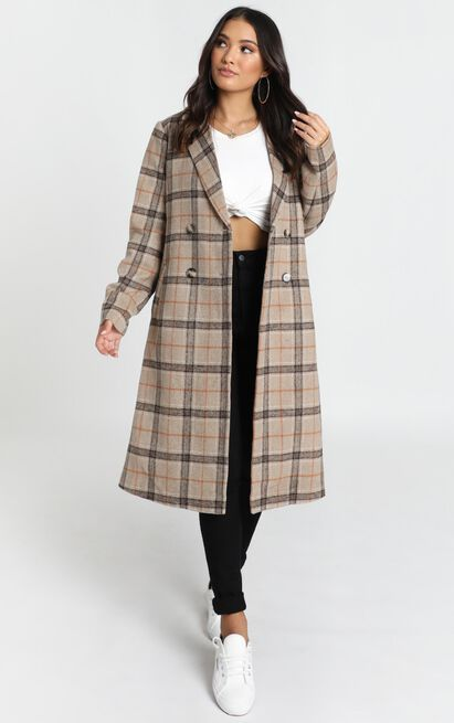 Atlanta Coat in brown check - 20 (XXXXL), Brown, hi-res image number null