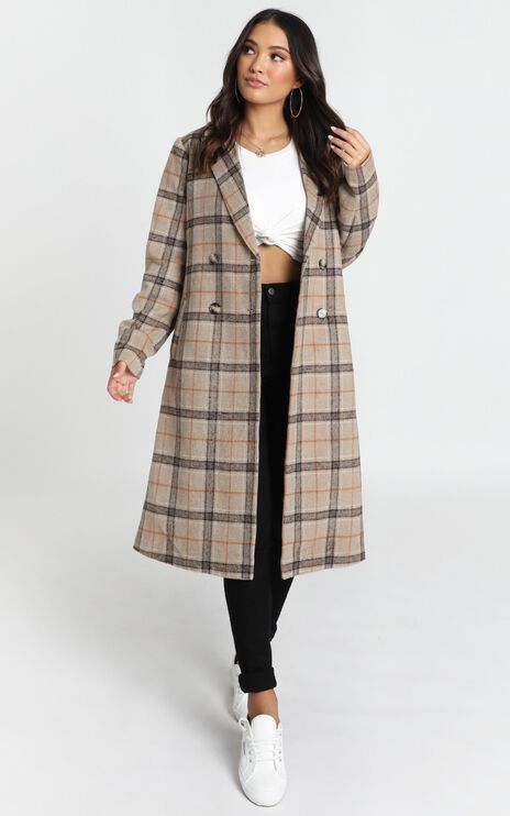 Atlanta Coat in Brown Check