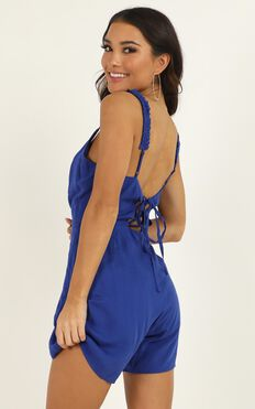Sudden Movement Playsuit In Cobalt Blue