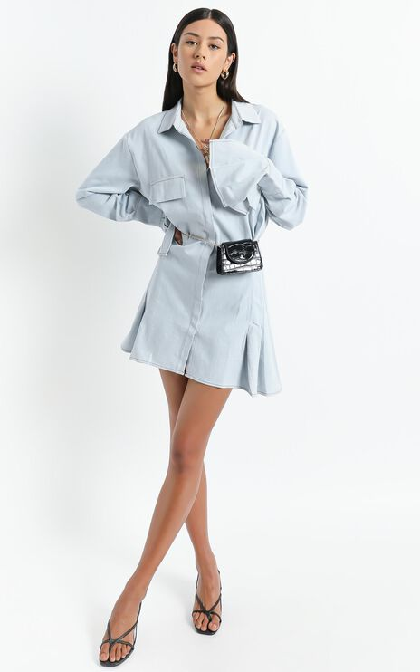 Lioness - Cover Girl Mini Dress in Light Blue