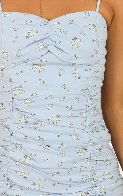 Find An Island Dress In Blue Floral - 14 (XL), Blue, hi-res image number null