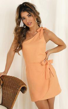Keeping It Together Dress In Sherbet Linen Look