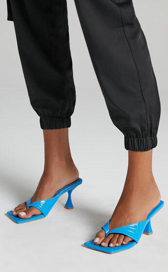 Public Desire - Harlie Heels in Blue Croc