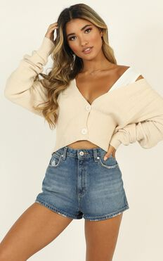 Bundled Up Knit Top In Cream