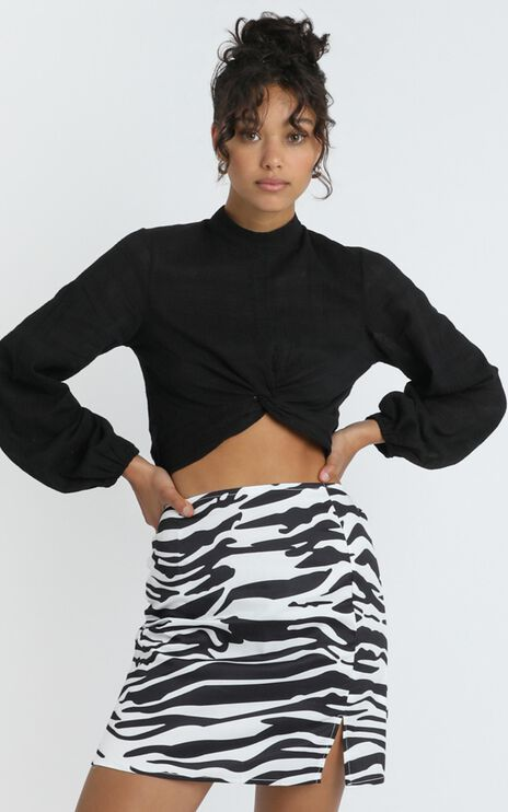 Paige Skirt in Zebra Print