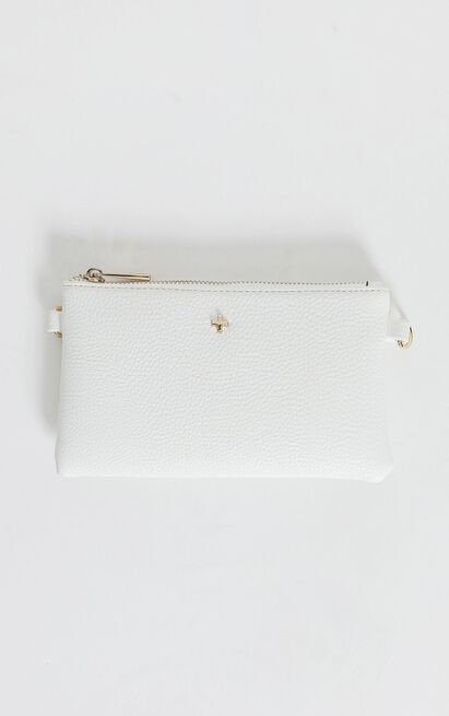 Peta And Jain - Tahnee Crossbody Chain Pouch In White Pebble, , hi-res image number null