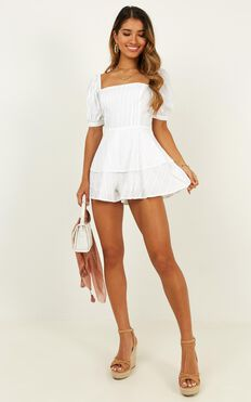 Packed And Ready Playsuit In White