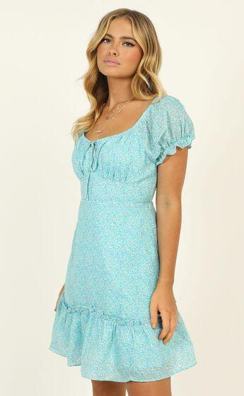Juliana Dress In Blue Floral