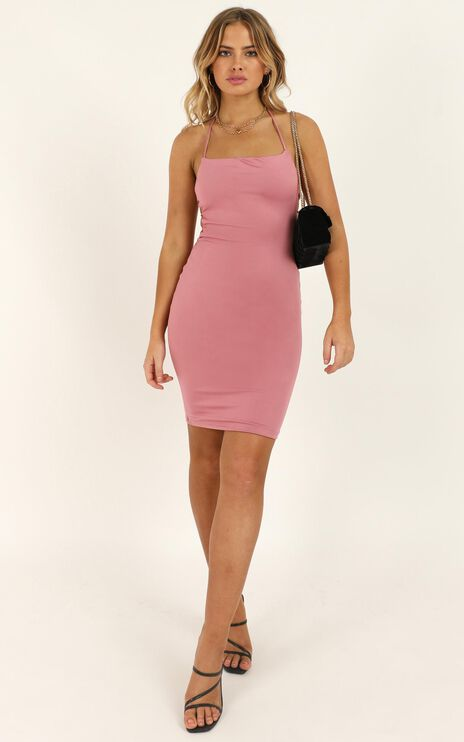 The Real Deal Dress In Blush