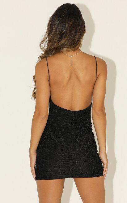 Party Lights Dress in black lurex - 12 (L), Black, hi-res image number null