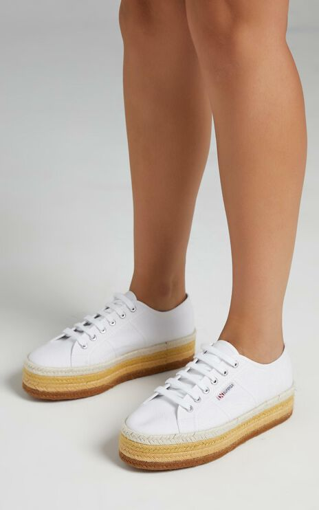 Superga - 2790 Multicolour Rope Sneakers in A9H White Natural