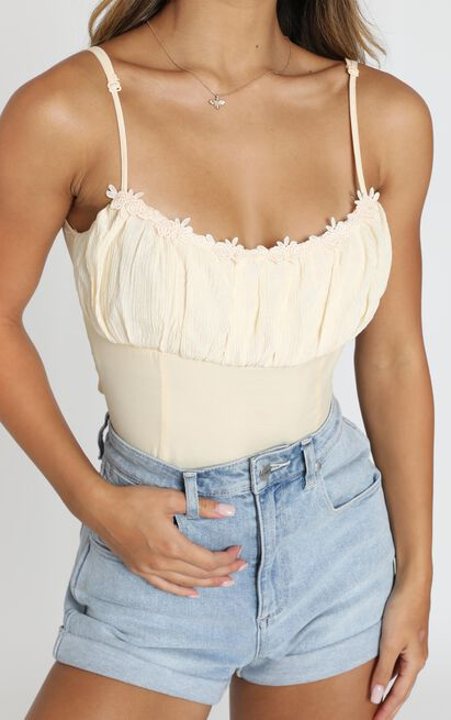 Wanda Top in champagne - 12 (L), Beige, hi-res image number null