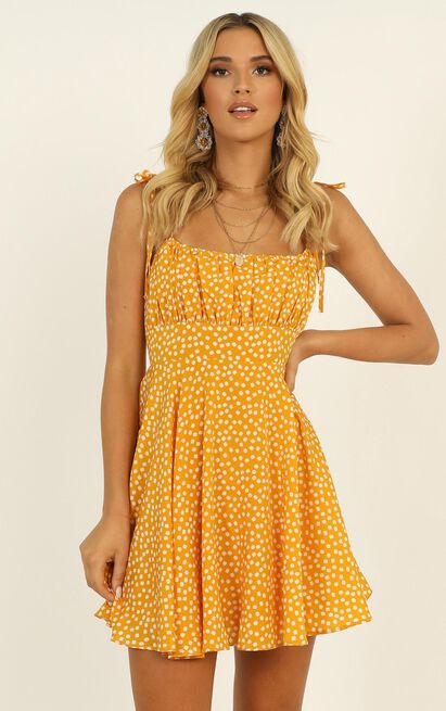Summer Jam Dress in yellow floral - 20 (XXXXL), Yellow, hi-res image number null