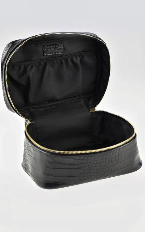 Peta and Jain - Lola Makeup Case in Black Croc