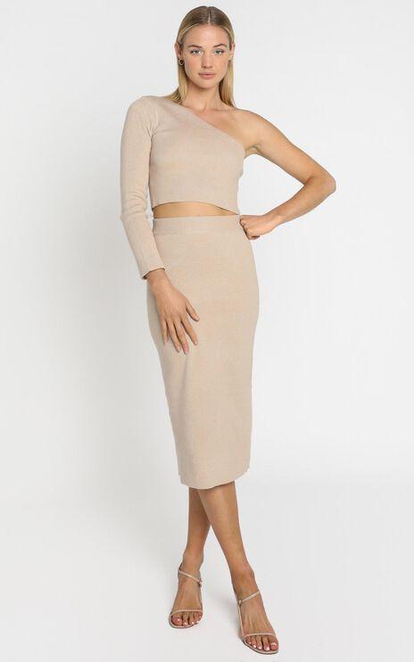 Walker Skirt in Beige