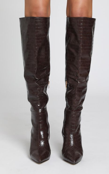 Billini - Naveen Boots in Chocolate Croc