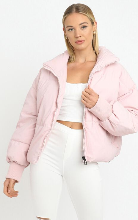 Windsor Puffer Jacket in Pink
