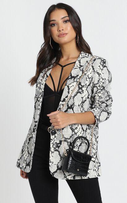 Gloria Jacket in snake print - 14 (XL), Black, hi-res image number null