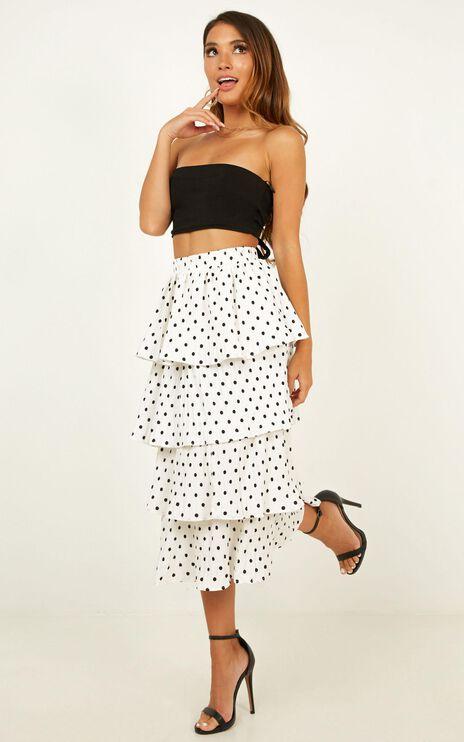 Locomotion Skirt In White Spot