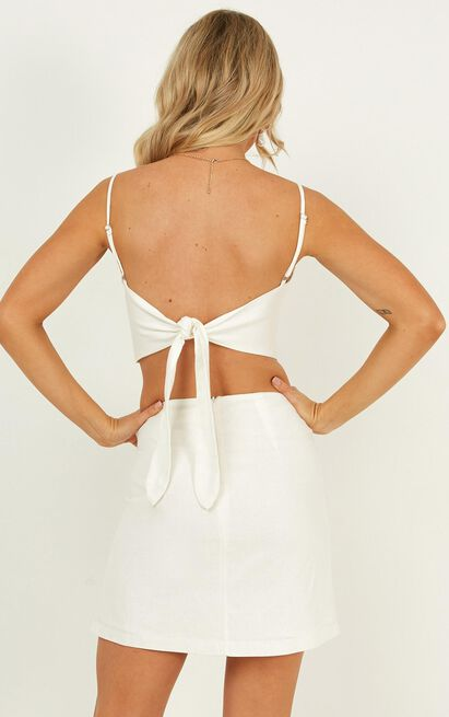 The Best Kind Two Piece Set in white linen look - 20 (XXXXL), White, hi-res image number null