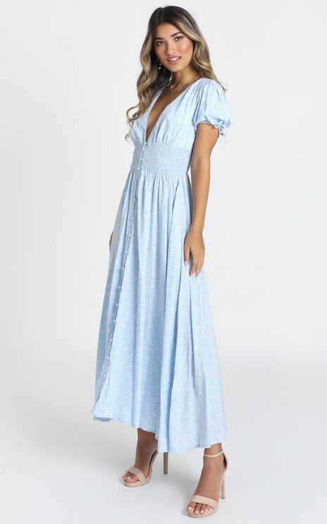 Sascha Dress In Blue Floral